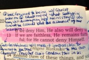 II Timothy 2:12b-13